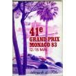 Programme Grand Prix Monaco 1983