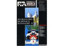 Programme Grand Prix Monaco 1987