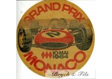 MONACO - GRAND PRIX  10 MAI 1964 AUTOCOLLANT