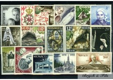 1958 MONACO ANNEE COMPLETE TIMBRES POSTE + PA  xx