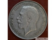 1921 ROYAUME UNI GEORGE V 1/2 CROWN ARGENT QUALITE TB