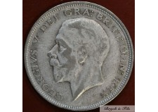 1927 ROYAUME UNI GEORGE V 1/2 CROWN ARGENT QUALITE TB