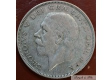 1933 ROYAUME UNI GEORGE V 1/2 CROWN ARGENT QUALITE TB
