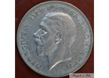 1935 ROYAUME UNI GEORGE V 1/2 CROWN ARGENT QUALITE TTB
