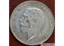 1923 ROYAUME UNI GEORGE V 1/2 CROWN ARGENT QUALITE TB