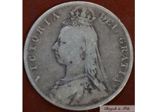 1891 ROYAUME UNI VICTORIA 1/2 CROWN ARGENT QUALITE TB