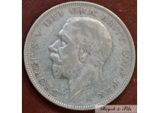 1934 ROYAUME UNI GEORGE V 1/2 CROWN ARGENT QUALITE TB