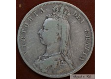1889 ROYAUME UNI VICTORIA 1/2 CROWN ARGENT QUALITE TB