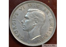 1938 ROYAUME UNI GEORGE VI 1/2 CROWN ARGENT QUALITE TTB