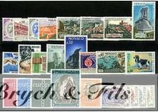 1971 MONACO ANNEE COMPLETE TIMBRES POSTE + PA PREO x
