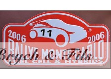 MONACO 2006 PLAQUE RALLYE FUEL CELL & HYBRIDS