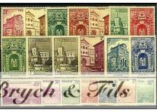 1939-41 MONACO N°169/183 TIMBRES POSTE VUES DE MONACO xx