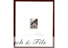 1987 MONACO N°1573 FONDATION PAROISSE SAINTE DEVOTE EPREUVE D'ARTISTE