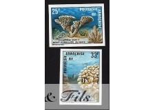 1977 POLYNESIE PA N°121/122 NON DENTELE CORAUX xx