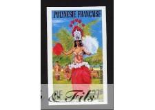 1977 POLYNESIE PA N°124 NON DENT. DANSEUSE DE TAHITI xx