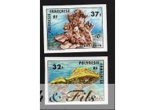 1979 POLYNESIE N°130/131 NON DENTELE CORAUX xx
