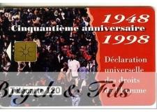 TELECARTE MONACO DROITS DE L'HOMME 1948-1998 MF51
