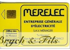 TELECARTE MONACO MERELEC MF21