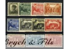 1922-23 MONACO N°54/64 TIMBRES POSTE ALBERT I ET VUES xx