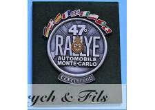 MONACO (1979) PLAQUE 47e RALLYE AUTOMOBILE MONTE CARLO