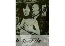 PHOTO ARGENTIQUE TIRAGE ORIGINAL GRAFFITIS GAINSBOURG PAR PATRICK BERTRAND