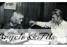 PHOTO ARGENTIQUE TIRAGE ORIGINAL JOHNNY HALLYDAY ET SYLVIE PAR PATRICK BERTRAND