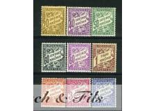 1926-43 MONACO TIMBRES TAXE YVERT ET TELLIER N°18-26 x