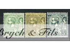 1920-21 MONACO N°44-45 ET 47 TIMBRES POSTE ALBERT Ier x