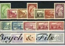 1933-37 MONACO N°119/134 TIMBRES POSTE VUES DE MONACO x
