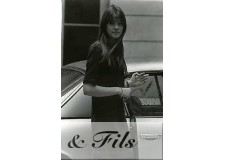 PHOTO ARGENTIQUE TIRAGE ORIGINAL FRANCOISE HARDY 1964 PAR PATRICK BERTRAND
