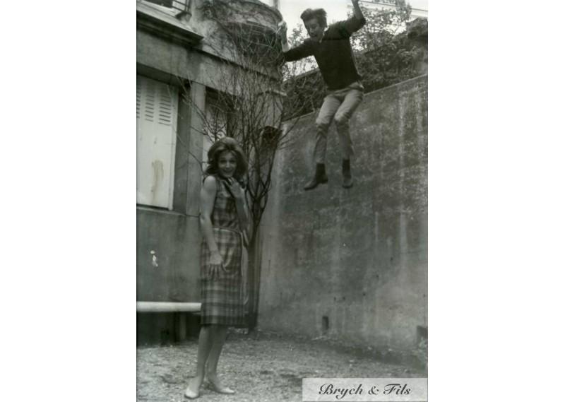 PHOTO  ARGENTIQUE TIRAGE ORIGINAL DALIDA MONTMARTRE 64 PATRICK BERTRAND