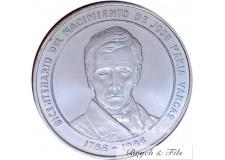 VENEZUELA 100 BOLIVARES 1986 ARGENT