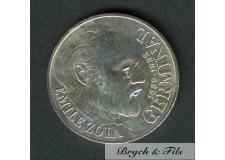 1985 PIECE 100 FRANCS ZOLA EN ARGENT