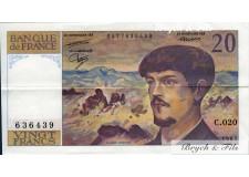 FRANCE 20 FRANCS Debussy 1987 TTB