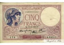 FRANCE 5 FRANCS 1917 modifié