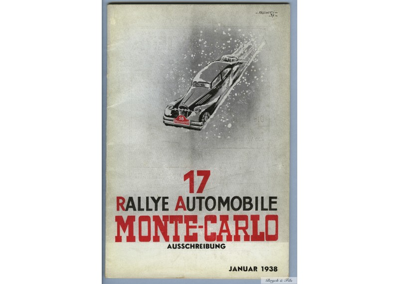 Programme Rallye Monaco 1938