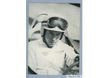 Carte Postale John Surtees écrite et signé par Ferrari