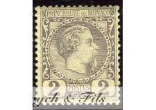 1885 MONACO N°2 TIMBRE POSTE PRINCE CHARLES III xx