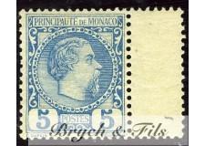 1885 MONACO N°3 TIMBRE POSTE PRINCE CHARLES III xx