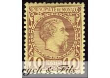 1885 MONACO N°4 TIMBRE POSTE PRINCE CHARLES III xx