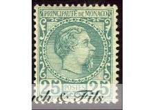 1885 MONACO N°6 TIMBRE POSTE PRINCE CHARLES III xx
