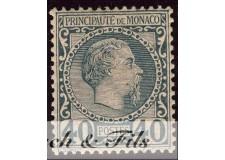 1885 MONACO N°7 TIMBRE POSTE PRINCE CHARLES III xx