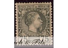 1885 MONACO N°8 TIMBRE POSTE PRINCE CHARLES III xx