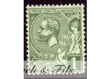 1891-94 MONACO N°11 TIMBRE POSTE PRINCE ALBERT I xx