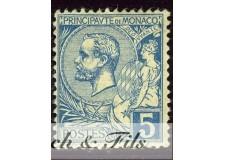 1891-94 MONACO N°13 TIMBRE POSTE PRINCE ALBERT I xx