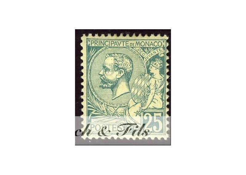 1891-94 MONACO N°16 TIMBRE POSTE PRINCE ALBERT I xx