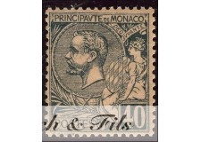 1891-94 MONACO N°17 TIMBRE POSTE PRINCE ALBERT I xx