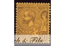 1891-94 MONACO N°18 TIMBRE POSTE PRINCE ALBERT I xx