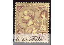 1891-94 MONACO N°19 TIMBRE POSTE PRINCE ALBERT I xx