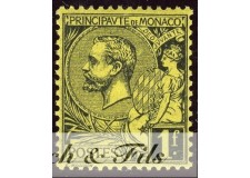 1891-94 MONACO N°20 TIMBRE POSTE PRINCE ALBERT I xx